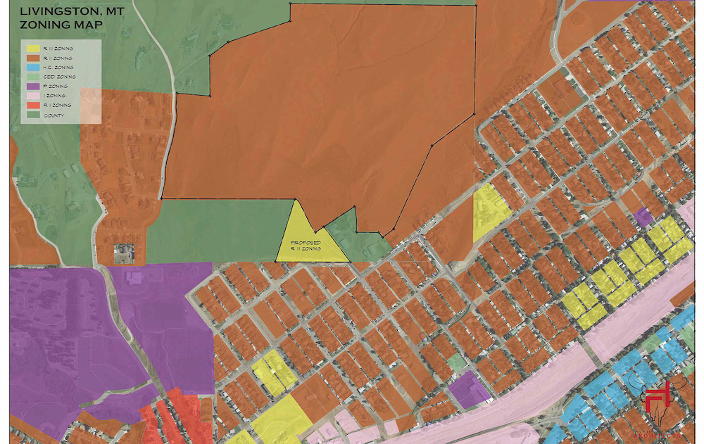 Northtown Livingston Zoning Map